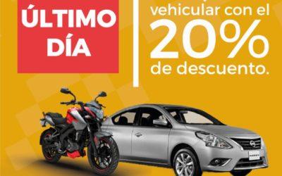 Descuento en impuesto vehicular hasta el 31 de julio del 2020