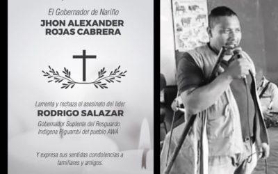 Gobernador rechazó asesinato de líder de comunidad Awá y pide garantías para líderes amenazados en Nariño