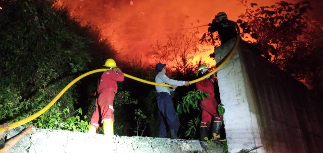 De forma oportuna se logró extinguir incendio en el norte de Nariño