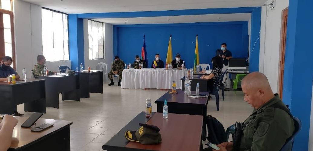 Gobernación de Nariño y Fuerza Pública plantean estrategias en contra de la criminalidad en zona de cordillera