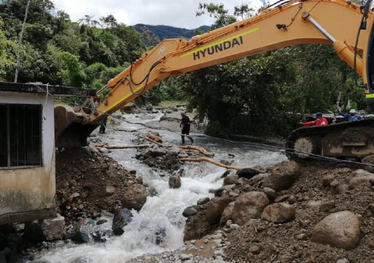 Continúa trabajo conjunto para atender afectados por avenida torrencial en el Municipio de Mallama