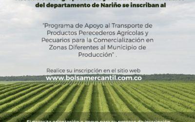 """Se extiende plazo de inscripción para el """"Programa de Apoyo al Transporte de Productos Perecederos Agrícolas y Pecuarios para la Comercialización en Zonas Diferentes al Municipio de Producción"""""""