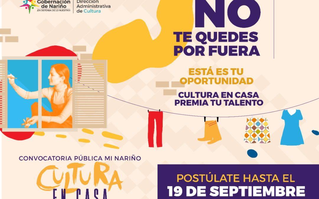 En dos días se cierra la convocatoria pública 'Mi Nariño', Cultura en Casa'