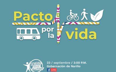 Gobernación de Nariño invita a firmar el 'Pacto por la vida y la seguridad vial'