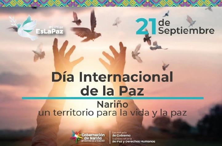 Gobernación de Nariño se une a la celebración del Día Internacional de la Paz