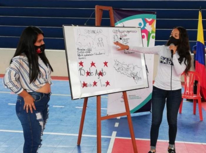 Jóvenes de Samaniego son promotores de acciones de paz
