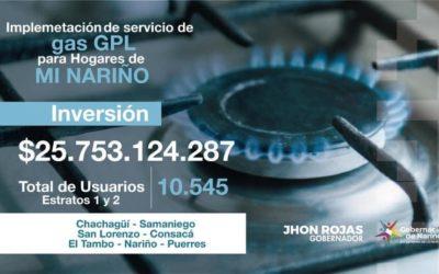 7 municipios de Nariño se benefician con instalaciones de gas domiciliario subsidiado