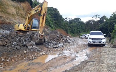 Con éxito avanzan los trabajos en la vía Junín – Barbacoas
