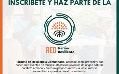 Inscripciones abiertas para curso de formación en resiliencia comunitaria