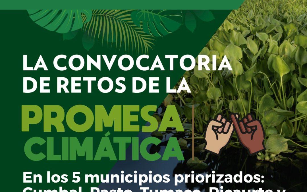 PNUD en articulación con la Gobernación de Nariño lanzan 'Promesa climática' como estrategia de acción climática en jóvenes y mujeres del territorio nariñense