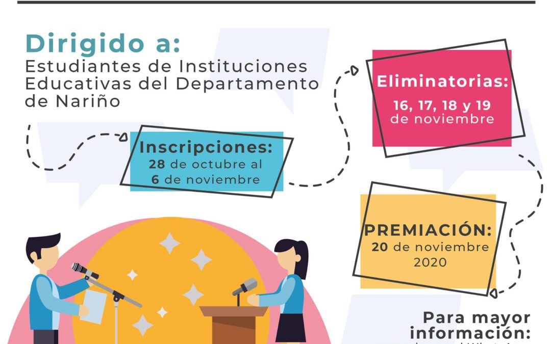 La Gobernación de Nariño reitera la invitación a inscribirse en el primer concurso departamental de oratoria en Derechos Humanos, Libertad Religiosa y de Cultos