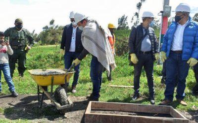 Gobernador de Nariño dio inicio a 3 obras de infraestructura rural en el Municipio de Cuapsud