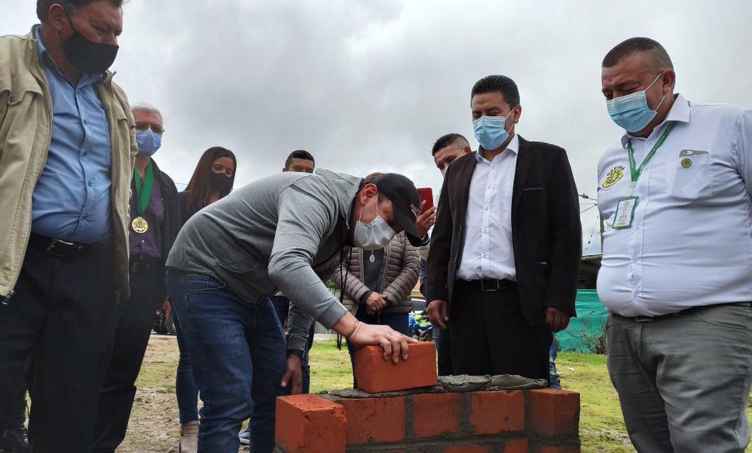 Gobernador de Nariño instaló primera piedra para la construcción de plaza de mercado en Ospina