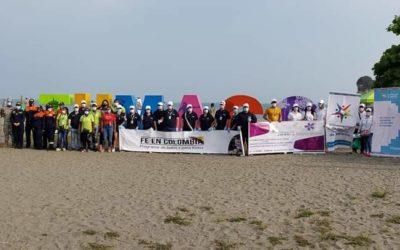 Gobernación de Nariño recolectó 2.5 toneladas de residuos sólidos en playas de Tumaco