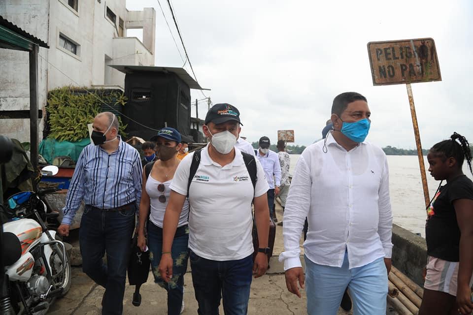 Gobernador de Nariño presentó balance de gestión en costa pacífica de Nariño