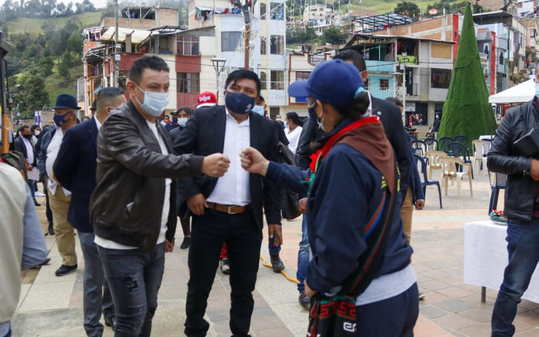 Gobernador de Nariño verificó avance de proyectos en el Municipio de Santacruz de Guachavés