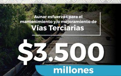 $3.500 millones serán invertidos en mejoramiento de vías terciarias en Nariño