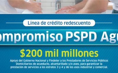 Línea de crédito de redescuento PSPD Agua