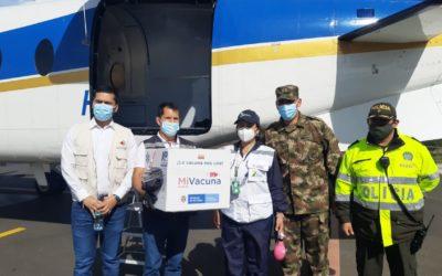 Ministerio de Salud despachó las primeras vacunas contra el COVID-19 a Nariño