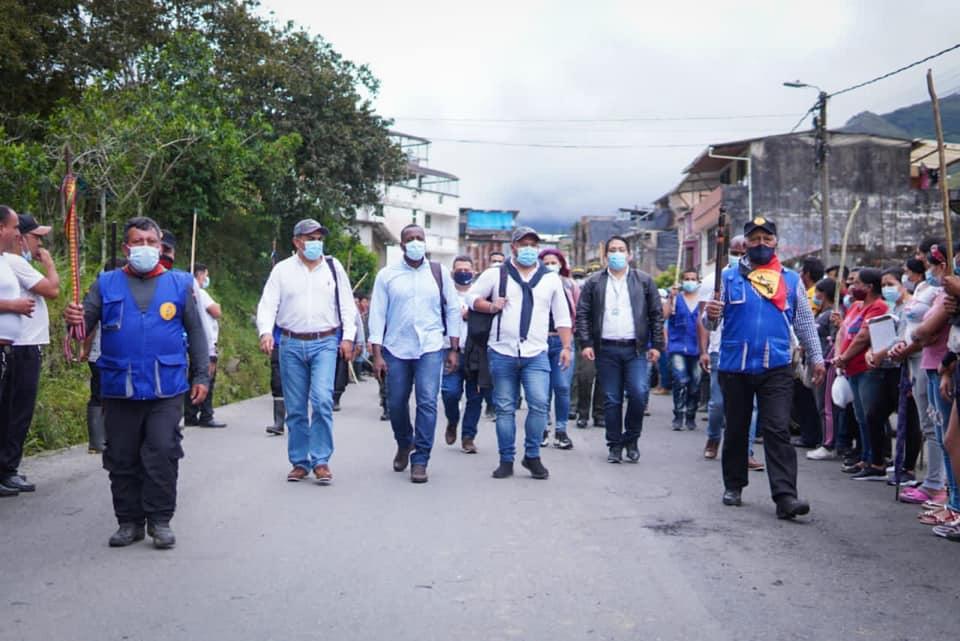 Gracias a diálogos promovidos por la Gobernación de Nariño se levantó Minga Indígena en Mallama