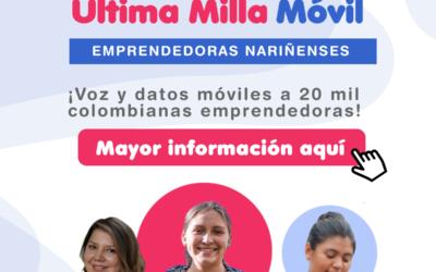 Datos móviles a 20 mil colombianas emprendedoras