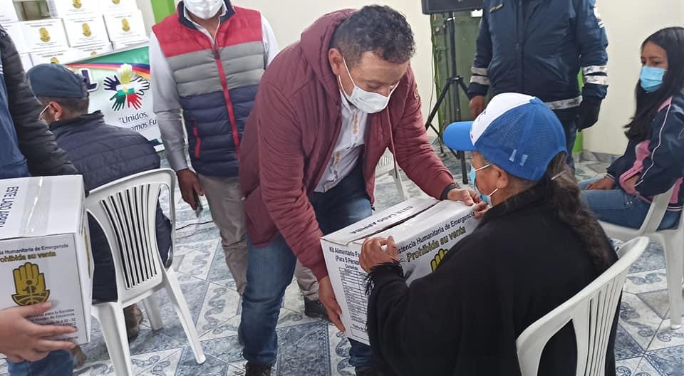 En Guachucal y El Peñol inició entrega de ayuda humanitaria a familias afectadas por las lluvias