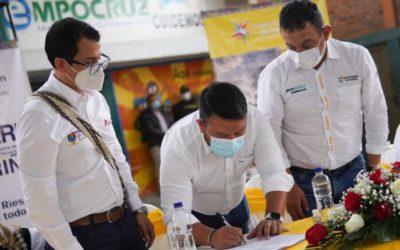 Gobernación de Nariño realiza convenio para apoyar iniciativas productivas de las víctimas del conflicto armado en el norte de Nariño
