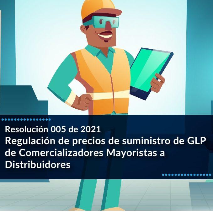 Regulación de precios de suministro de GLP de Comercializadores Mayoristas a Distribuidores