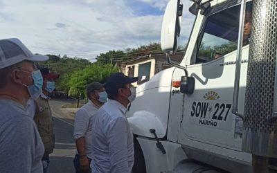 Habilitado corredor humanitario para abastecimiento desde el Cauca hacia Nariño