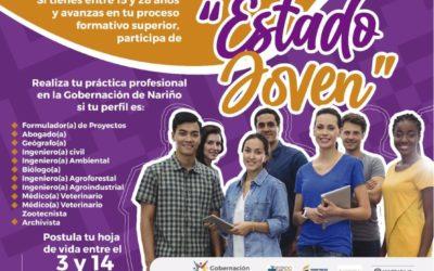 Gobernación de Nariño oferta plazas para práctica estudiantil a través del programa nacional 'Estado Joven'