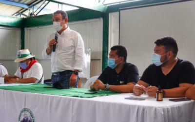 Gobernador Jhon Rojas se reunió con comunidad Awá Unipa en Barbacoas