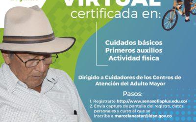Formación virtual para cuidadores de adultos mayores en el Departamento