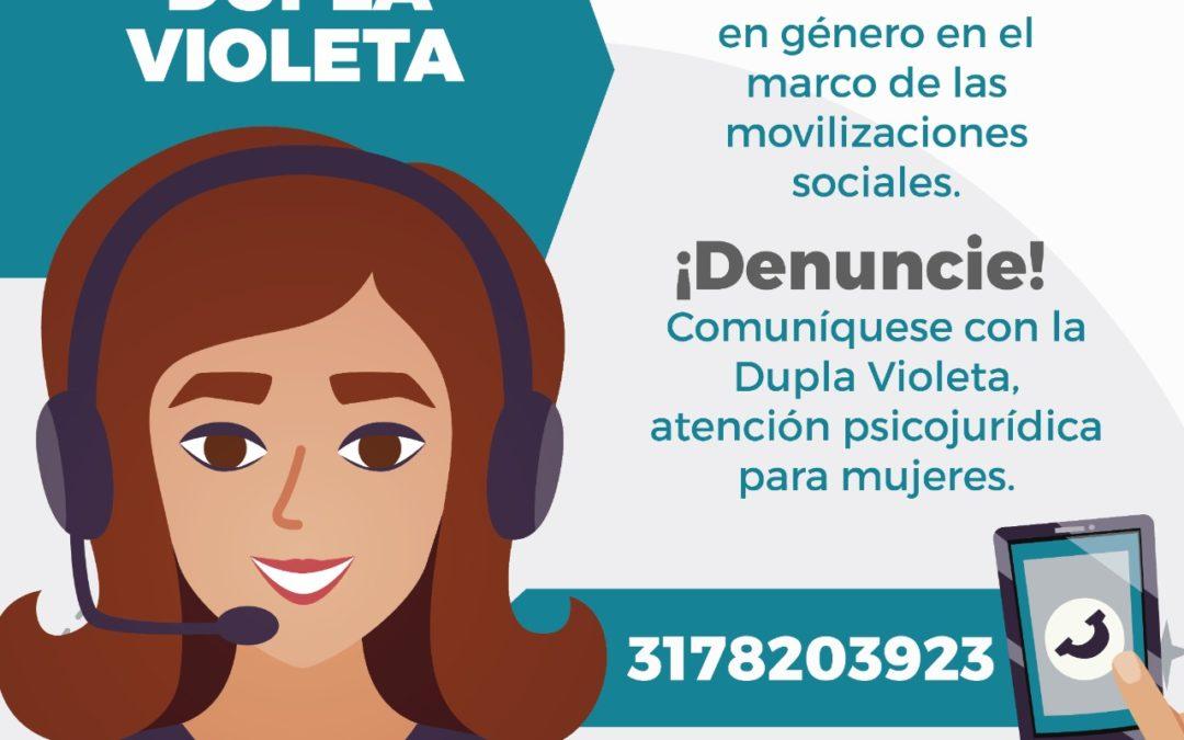 Se reactiva la Dupla Violeta para casos de violencia basados en Género