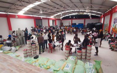 Se entrega ayuda humanitaria para familias desplazadas en la costa pacífica nariñense