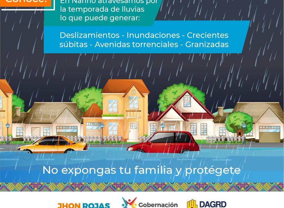 Situación departamental por temporada de lluvias en Nariño