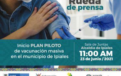 Plan masivo de vacunación inicia en Ipiales