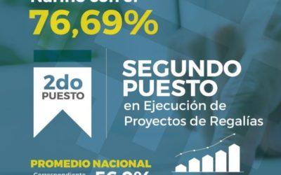 Gobernación de Nariño asciende en ranking de ejecución de proyectos de regalías