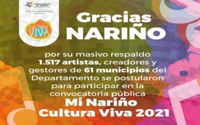 Participación masiva en convocatoria pública 'Mi Nariño Cultura Viva'