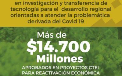 Más de $14 mil millones aprobados en proyectos CTeI para la reactivación social y económica en Nariño