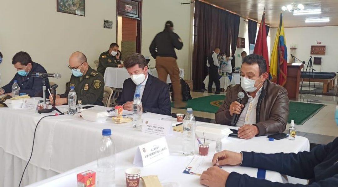 Gobernador de Nariño expresó problemáticas de seguridad ante Ministerio de Defensa