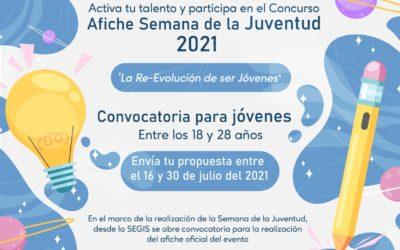 Abrimos convocatoria para creación del afiche oficial de la Semana de la Juventud 2021