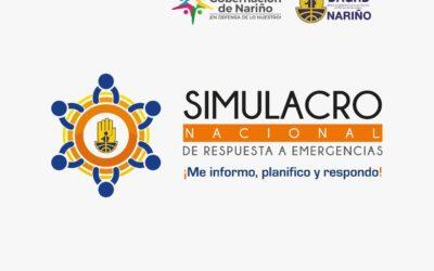 Nariño se prepara para el simulacro nacional de respuesta a emergencias